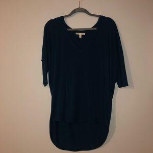 Blue Express long sleeve high low shirt size M